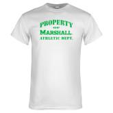 White T Shirt-Property 0f Marshall