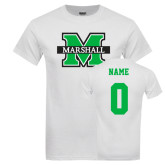 White T Shirt-M Marshall, Custom Tee w/ Name and #