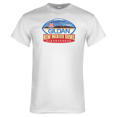 White T Shirt-Gildan New Mexico Bowl - Official Logo