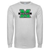 White Long Sleeve T Shirt-M Marshall