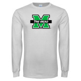 White Long Sleeve T Shirt-M The Herd