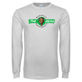 White Long Sleeve T Shirt-Marshall University The Herd