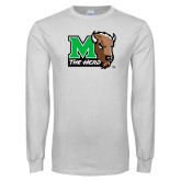 White Long Sleeve T Shirt-M The Herd w Head