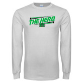 White Long Sleeve T Shirt-The Herd Fancy Lines