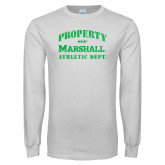White Long Sleeve T Shirt-Property 0f Marshall