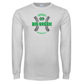 White Long Sleeve T Shirt-Baseball Ball Design