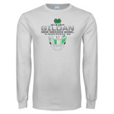 White Long Sleeve T Shirt-New Mexico Bowl - Face Mask