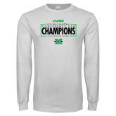 White Long Sleeve T Shirt-2018 Mens Basketball Champions - Box