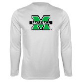 Performance White Longsleeve Shirt-M Marshall