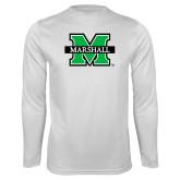 Syntrel Performance White Longsleeve Shirt-M Marshall