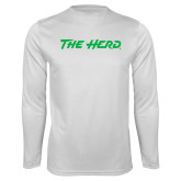 Performance White Longsleeve Shirt-The Herd