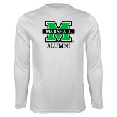 Performance White Longsleeve Shirt-Alumni