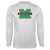 Performance White Longsleeve Shirt-Basketball