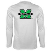 Performance White Longsleeve Shirt-Football