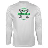 Syntrel Performance White Longsleeve Shirt-Baseball Ball Design