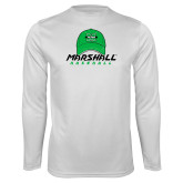 Syntrel Performance White Longsleeve Shirt-Baseball Hat Design