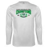 Performance White Longsleeve Shirt-Gildan New Mexico Bowl