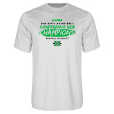 Performance White Tee-2018 Mens Basketball Champions - Brush
