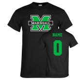 Black T Shirt-M Marshall, Custom Tee w/ Name and #