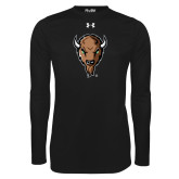 Under Armour Black Long Sleeve Tech Tee-Mascot Head