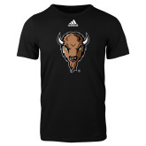 Adidas Black Logo T Shirt-Mascot Head