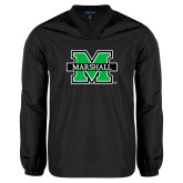 V Neck Black Raglan Windshirt-M Marshall