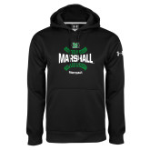 Under Armour Black Performance Sweats Team Hoodie-Softball Ball Design