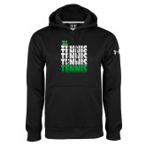 Under Armour Black Performance Sweats Team Hood-Tennis Stacked Design