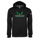 Under Armour Black Performance Sweats Team Hoodie-Track and Field Wings Design