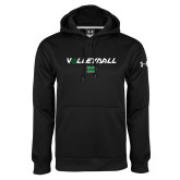 Under Armour Black Performance Sweats Team Hood-Volleyball Ball Design