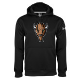 Under Armour Black Performance Sweats Team Hoodie-Mascot Head