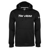 Under Armour Black Performance Sweats Team Hood-The Herd