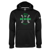 Under Armour Black Performance Sweats Team Hoodie-Baseball Ball Design