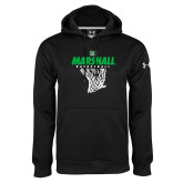 Under Armour Black Performance Sweats Team Hood-Basketball Net Design