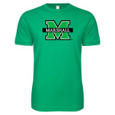 Next Level SoftStyle Kelly Green T Shirt-M Marshall