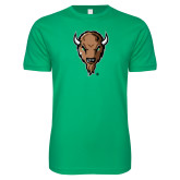 Next Level SoftStyle Kelly Green T Shirt-Mascot Head