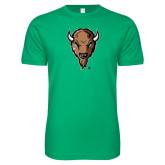Next Level SoftStyle Kelly Green T Shirt-Mascot Head