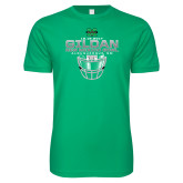 Next Level SoftStyle Kelly Green T Shirt-New Mexico Bowl - Face Mask