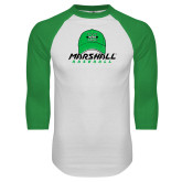 White/Kelly Green Raglan Baseball T Shirt-Baseball Hat Design