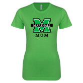 Next Level Ladies SoftStyle Junior Fitted Kelly Green Tee-Mom