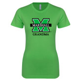 Next Level Ladies SoftStyle Junior Fitted Kelly Green Tee-Grandma