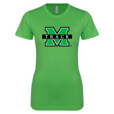 Next Level Ladies SoftStyle Junior Fitted Kelly Green Tee-Track