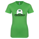 Next Level Ladies SoftStyle Junior Fitted Kelly Green Tee-Baseball Hat Design