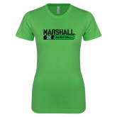 Next Level Ladies SoftStyle Junior Fitted Kelly Green Tee-Basketball Bar Design