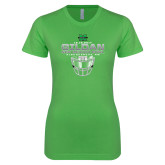 Next Level Ladies SoftStyle Junior Fitted Kelly Green Tee-New Mexico Bowl - Face Mask