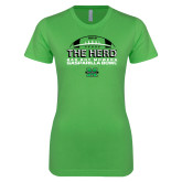 Next Level Ladies SoftStyle Junior Fitted Kelly Green Tee-2018 Gasparilla Bowl