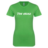 Next Level Ladies SoftStyle Junior Fitted Kelly Green Tee-The Herd