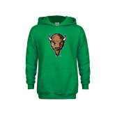 Youth Kelly Green Fleece Hoodie-Mascot Head