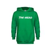 Youth Kelly Green Fleece Hoodie-The Herd