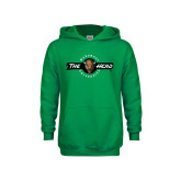 Youth Kelly Green Fleece Hoodie-Marshall University The Herd